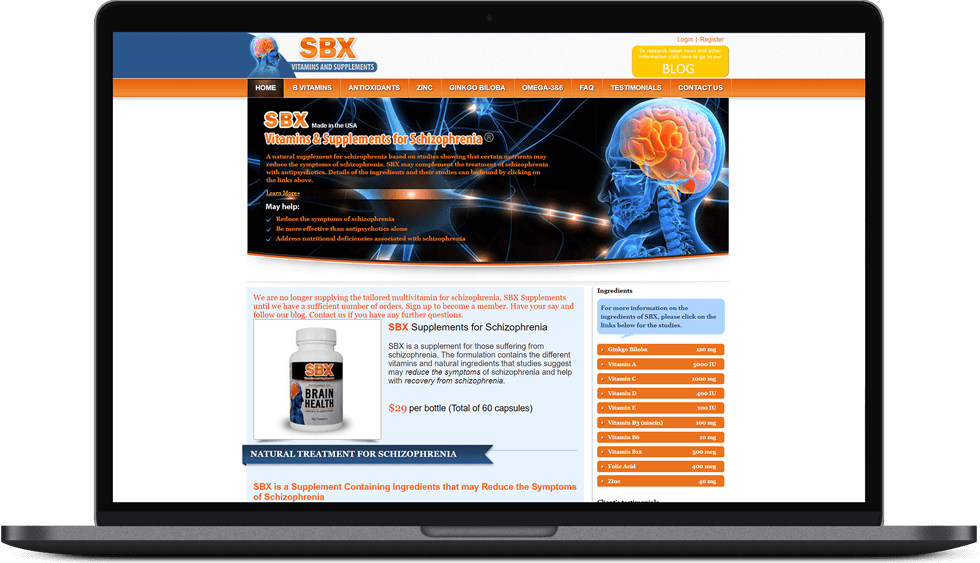 Antibiotics website design (SBX)